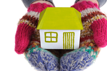 Small house in the gloves